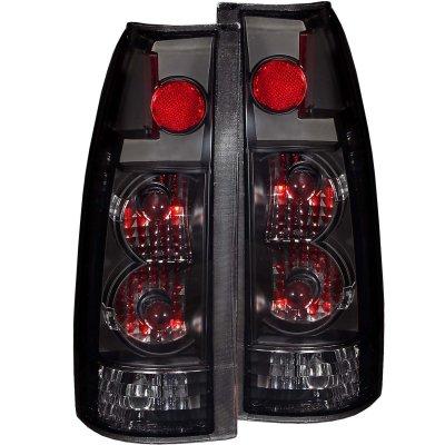 GMC Sierra 1988-1998 Black Smoked Custom Tail Lights