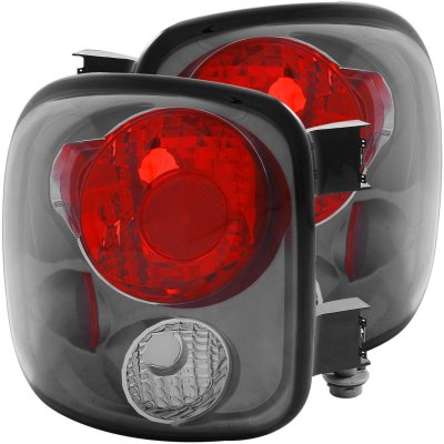 GMC Sierra Stepside 1999 2004 Smoked Custom Tail Lights