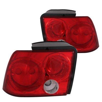 ford mustang 1999 2004 red custom tail lights. Black Bedroom Furniture Sets. Home Design Ideas