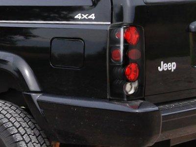Jeep Cherokee 1997-2001 Black Custom Tail Lights