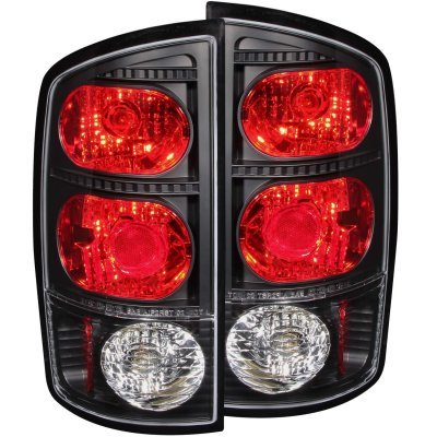 Dodge Ram 2002 2006 Black Custom Tail Lights A1323p8s245