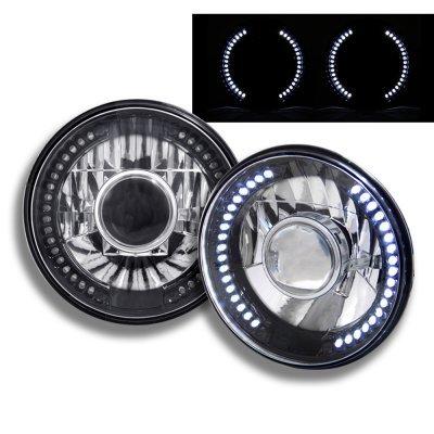 Jeep Wrangler 2007-2017 Black Chrome Headlights Conversion LED Halo
