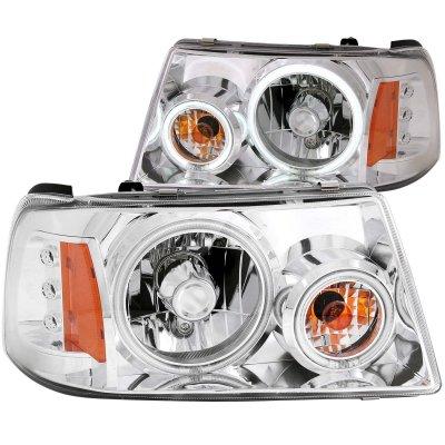 2003 ford ranger ccfl halo projector headlights chrome. Black Bedroom Furniture Sets. Home Design Ideas
