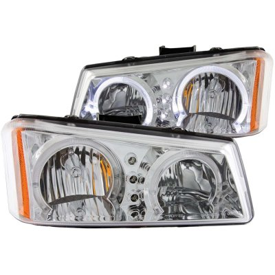 chevy silverado 2500 2003 2004 clear halo headlights led a1328swn246 topgearautosport. Black Bedroom Furniture Sets. Home Design Ideas
