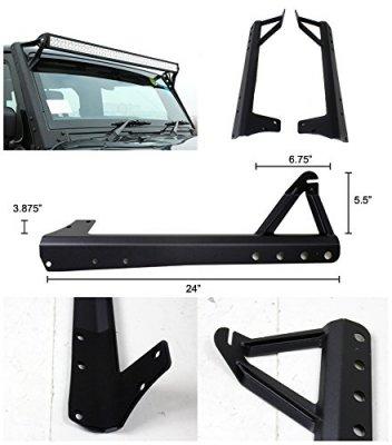 questions on jeep wrangler jk 2007 2014 upper light bar mount brackets. Black Bedroom Furniture Sets. Home Design Ideas