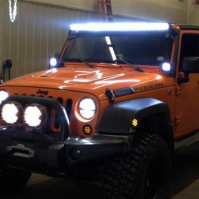 Jeep wrangler jk 2007 2016 led light bar with mounting brackets jeep wrangler jk 2007 2016 led light bar with mounting brackets aloadofball Images