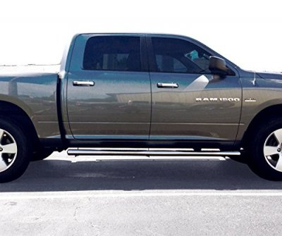 Dodge Ram 2500 Crew Cab 2010 2017 Nerf Bars Stainless Steel 4 Inch Oval
