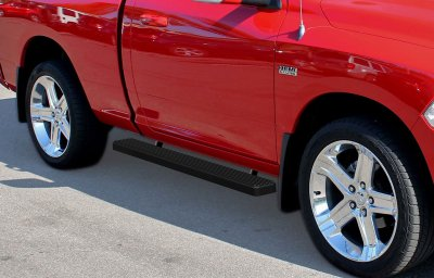 Dodge Ram Regular Cab 2009-2016 Running Boards Black 4 Inch Side Steps