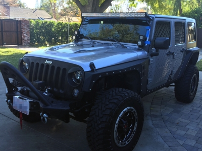 Jeep Wrangler 2007 2016 Led Light Bar And Dual Spot Beam