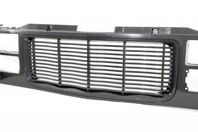 gmc sierra 3500 1994 2000 black wave billet grille. Black Bedroom Furniture Sets. Home Design Ideas