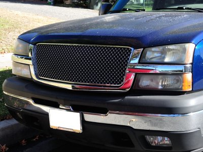 Used Chevy Silverado 2500 >> Chevy Avalanche 2003-2006 Front Grill Chrome Mesh ...