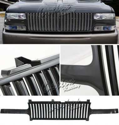 Chevy Silverado 1999-2002 Black Vertical Grille