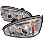 Chevy Malibu 2004-2007 Clear Dual Halo Projector Headlights with LED