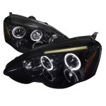 Acura RSX 2002-2004 Smoked Halo Projector Headlights