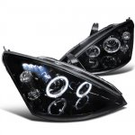 Ford Focus 2000-2004 Smoked Halo Projector Headlights with LED