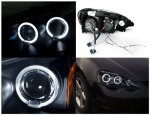 Acura RSX 2002-2004 JDM Black Dual Halo Projector Headlights